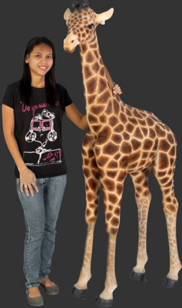 Baby Giraffe 6ft 120004 Dinosaur Resin Replica Wild Animals